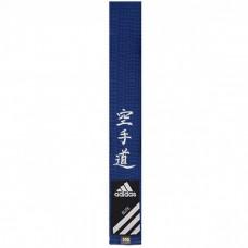 Пояс для карате Adidas серии ELITE с вышивкой (синий, ADIB242)